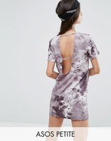 Asos T-Shirt Dress In Tie-Dye With Ladder Back