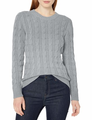 Amazon Essentials Long-sleeve 100% Cotton Cable Crewneck Sweater
