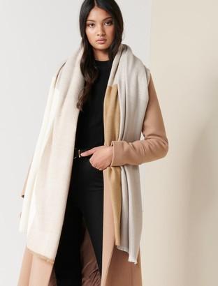 Forever New Belinda Colourblock Scarf - Camel Multi - 00