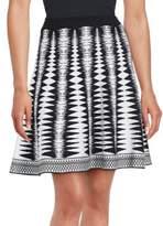 Saks Fifth Avenue BLACK Geometric Print Skirt