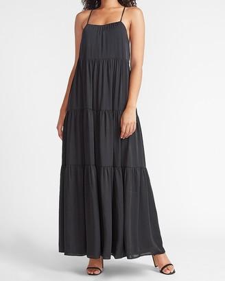 Express Tiered Cross-Back Maxi Dress