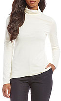Pendleton Knit Jersey Long Sleeve Turtleneck Top