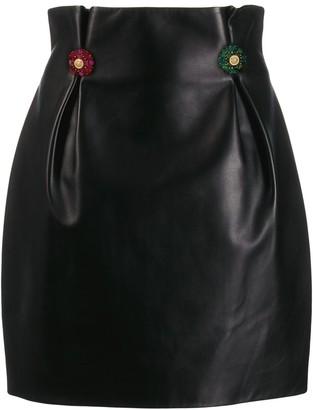 Versace Crystal-Embellished Mini Skirt