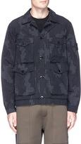 Stone Island Camouflage grid ripstop jacket