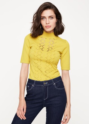 Phase Eight Leona Eyelet Detail Knitted Top