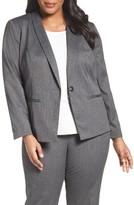 Sejour Plus Size Women's Stretch Melange Suit Jacket