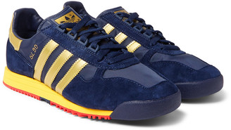 Adidas Consortium Sl 80 Spezial Faux Suede And Leather And Mesh Sneakers