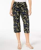 Karen Scott Floral-Print Capri Pants, Created for Macy's