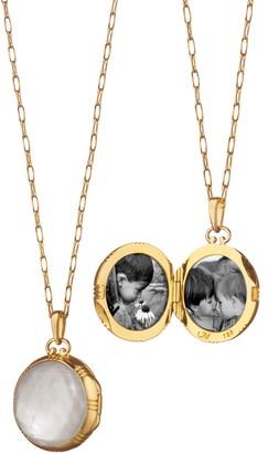 Monica Rich Kosann Stone Locket Necklace