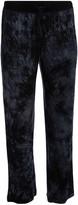 Rene Rofe Women's Sleep Bottoms ABSTRACT - Black Abstract Double Fun Pajama Pants - Women