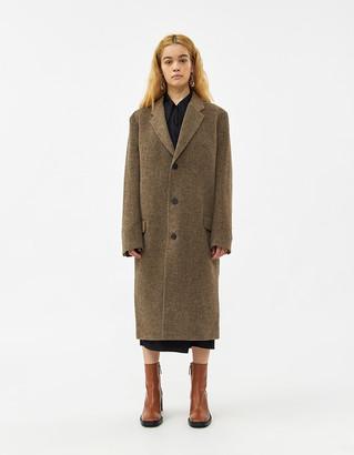Hope Women's Area Herringbone Coat in Beige Herringbone, Size 36 | Wool