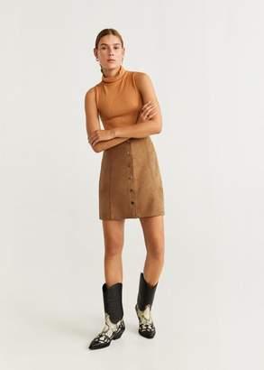 MANGO Buttoned miniskirt black - XXS - Women