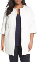 Plus Size Women's Persona By Marina Rinaldi Natura Jacquard Coat