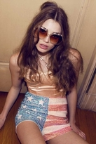 Wildfox Couture American Glitter Sequin Shorts in Nude