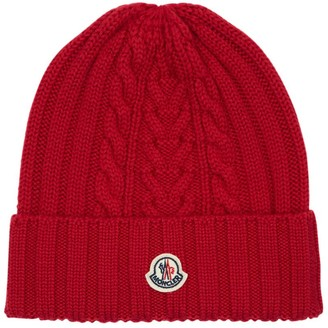 Moncler Wool Knit Beanie Hat