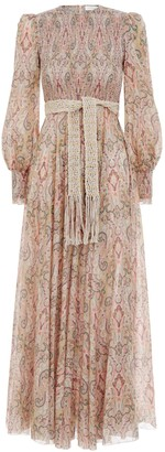Zimmermann Freja Shirred Long Dress
