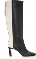 Wandler Isa Two-Tone Leather Knee Boots