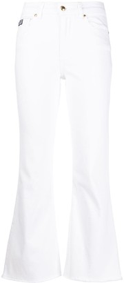 Versace High Rise Cropped Jeans