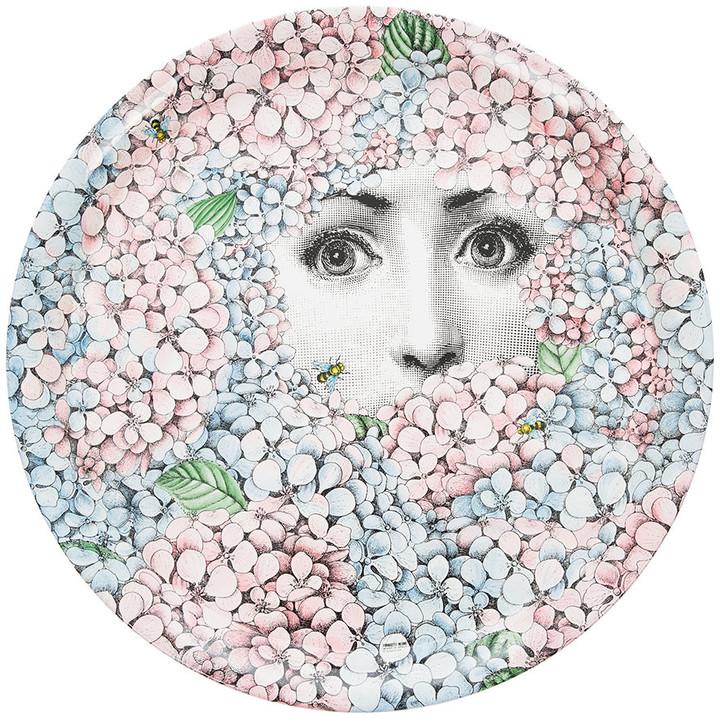 Fornasetti Ortensia Floral Tray - 60cm