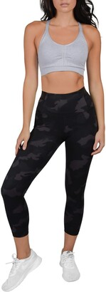 90 Degree By Reflex Lux Supportive Waistband Capri Leggings