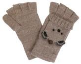 Women's Wool Blend Flip Top Knit Bear Gloves