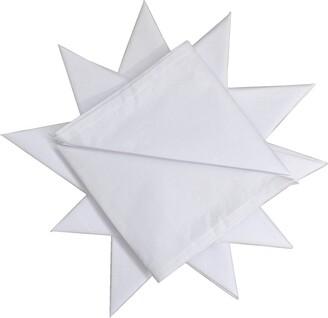 Dudu N Girlie! Cotton Men's Hemmed Stitched Handkerchiefs Pack of 12