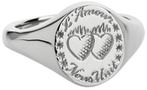 Laura Lee Jewellery Love Ignites Us Signet Ring - Sterling Silver