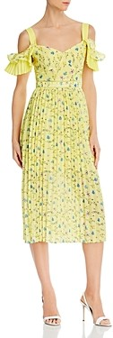 OPT Retsina Cold-Shoulder Midi Dress