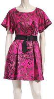 Brocade Belted Dress
