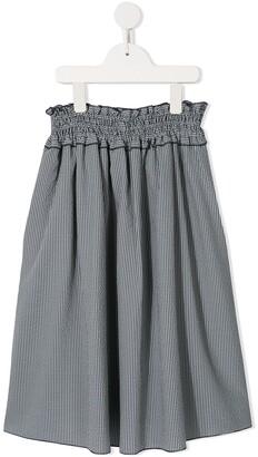 Familiar Checked Midi Skirt