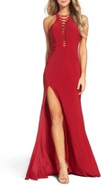 La Femme Women's Slit Gown