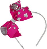 Wee Ones Metallic Overaly Headband - Hearts/Wildberry-One Size