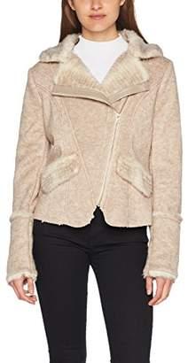 Molly Bracken Women's S011A17 Jacket, Beige, X-Small