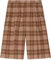 Gucci Check wool shorts