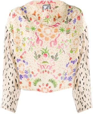 Anntian Harvest Party print blouse