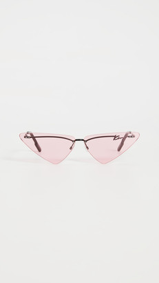 Kenzo Rimless Cat Eye Sunglasses