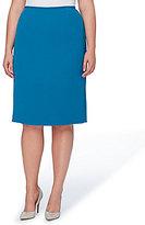 Tahari ASL Plus Crinkle Pencil Skirt