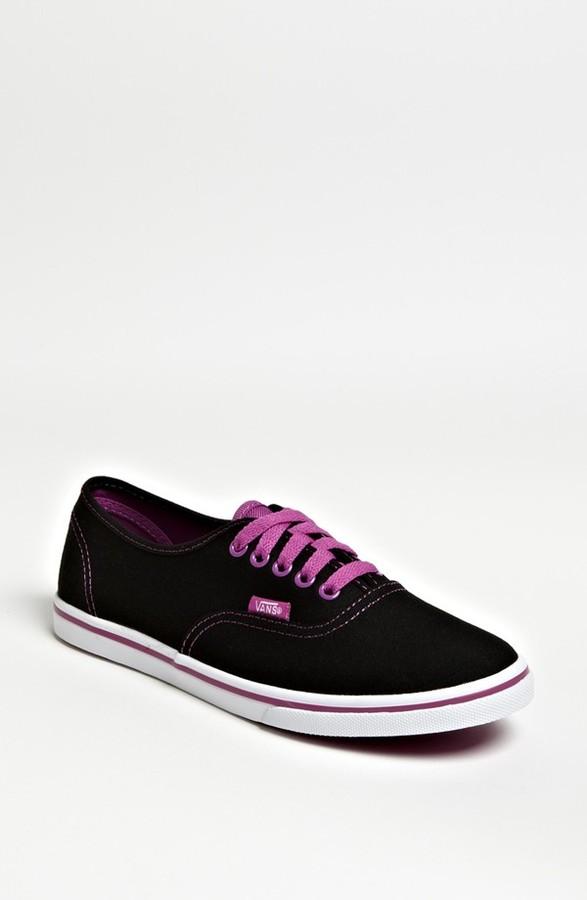 Vans 'Authentic Lo Pro - Neon' Sneaker (Women) Womens Neon Black Purple Size 11 M 11 M