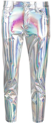 Junya Watanabe Holographic Skinny Trousers
