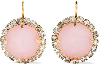 Elizabeth Cole Danette 24-karat Gold-plated Crystal Earrings