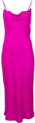 Fleur Du Mal Cowl-Neck Midi Dress