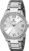 Titan Women's 9955SM01 Analog Display Quartz Watch