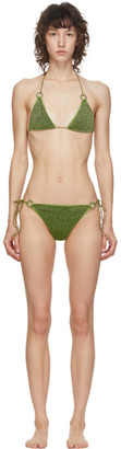 Oseree Green Lurex Micro Ring Bikini