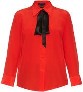 Marc Jacobs Tie-neck crepe de Chine shirt