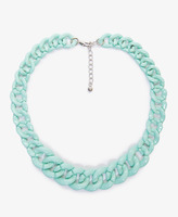 Forever 21 Lacquered Curb Link Chain Necklace