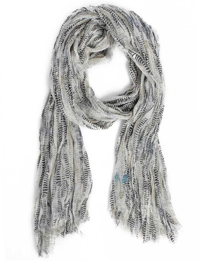 Zadig & Voltaire Scarf Bahamas Feather Tiger