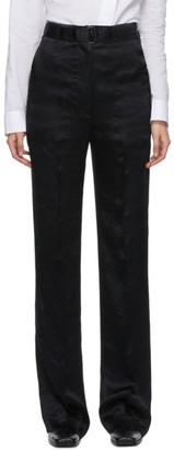 Ann Demeulemeester Black Belted Lambeth Trousers