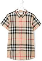 Burberry new classic check shirt - kids - Cotton - 14 yrs
