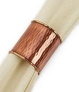 Southern Living Harvest Hammered Copper Tube Napkin Ring