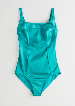 And other stories Satin Back Bow Swimsuit